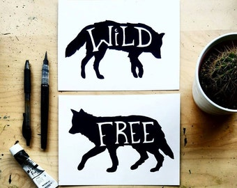 Wild and Free - Set of 2 Art Prints