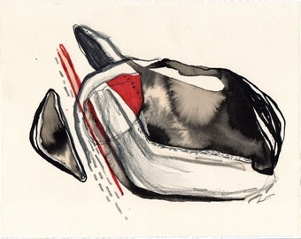 Abstract Outsider Art, Original Art, Contemporary Fine Art Drawing