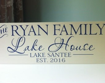 Lake House Decor, Custom lake house sign, Personalized Lake House Sign, lake sign, personalized lake decor, shore house decor, lake lover