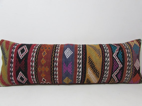 16x48 big throw pillow kilim pillow king size pillow cases