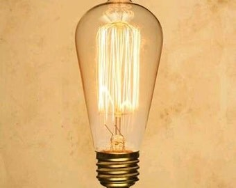 Vintage Light Bulb Filament Edison Bulb Retro Lightbulb 40W ES E27 Screw - ST64