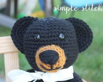Cuddly Teddy Bear - Handmade Teddy Bear - Classic Black Bear Toy