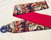 wrist wraps Wonder Woman and Red reversable 1 pair