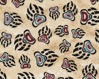 Native American bear claw design fabric.