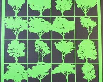 Many trees, papercut