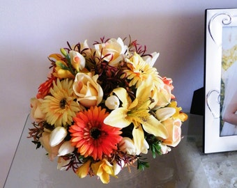 Silk Artificial Floral Arrangement Flower Table Centrepiece