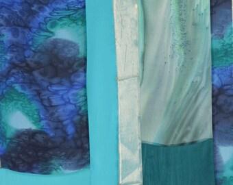 Tunic Length Kimono Size L Wearable Art Custom Made for Cat
