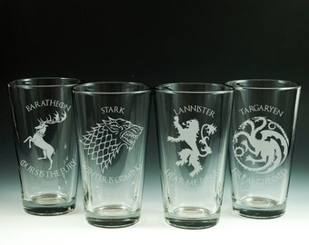 Game of Thrones, Glasses, Glassware, Set of 4