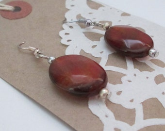 Brown Agate Earrings, Mother's Day Gift, Birthday Gift for Mom, Anniversary Gift, Dangle and Drop, Gemstone Earrings, Gift for Her