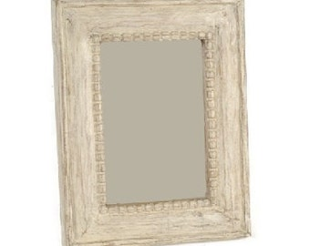 Beaded Photo Picture Frame - Naturally Limed - 7 x 5