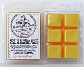 Mandarin Cranberry Beeswax Melts | 3 oz. | Natural | Melt-Warmers | Wax Melts | Scented