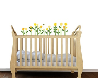 Yellow Flower Wall Decals - Fabric Wall Decals