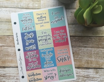 Planner Stickers- Hamilton Quote Stickers- Great for Erin Condren planners, Inkwell, Emily Ley, Day Designer, etc