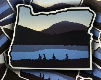 Stand By Me Themed Oregon Sticker