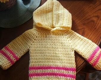 Baby girls crochet hoodie