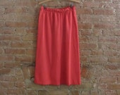 NY Fashion Week Sale vintage red pencil skirt • size s/m • Carmen