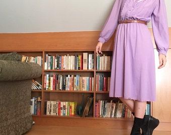 70s Lavender Prairie Dress
