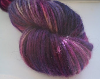 British Bluefaced Leicester Hand Dyed Yarn, Roving Yarn, Aran, Made in Yorkshire, 100g ~ approx 140m