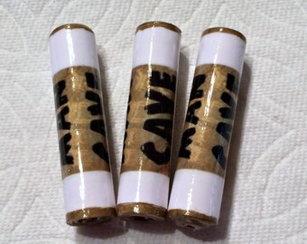 Man Cave Beads Paper Beads Artisan Handmade Beads for Pens and other Beadable Products
