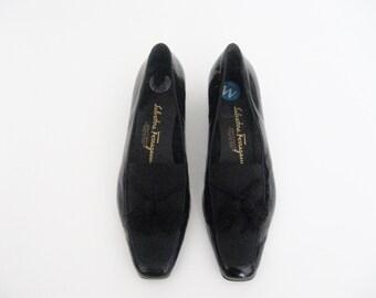 vtg Salvatore Ferragamo Pattent Leather Slip on Shoes with tassles - 6 women's shoes