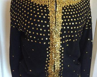 Gold Sequined Cardigan