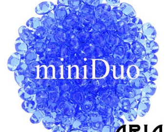 SAPPHIRE: MiniDuo Two-Hole Czech Glass Seed Beads, 2x4mm (5 grams)