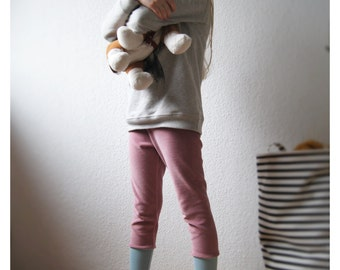 velours leggings organic cotton dusty rose,girls trousers rose,girls trousers,rose leggings,girls velour leggings,velour toddler leggings