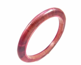 Red Berry Marbled Bangle Bracelet