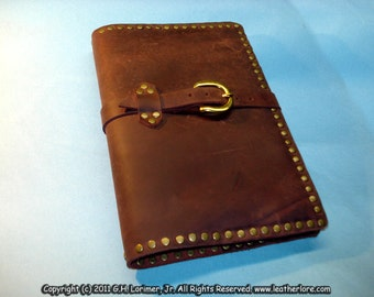 "Leather Sketch Book; 6"" x 9"" Hand Crafted"