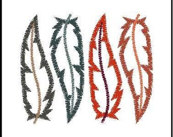 Feather embroidery applique feather embroidery design tribal embroidery design