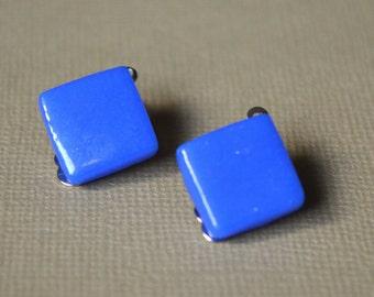 Earrings blue clips
