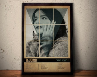BJORK POSTER Art Print * Bjork Song Lyrics Poster * Retro Vintage Wall Art * A1 A2 A3 A4 , Gift For Him , Gift For Her