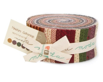Moda Mini Gatherings Primitive Gatherings Jelly Roll 42 2.5 Inch Strips Fabric