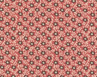 RJR Chocolate & Bubble Gum Cream Brown Pink Civil War Floral Fabric 2717-001 BTY