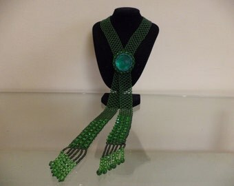 handmade tie with a brooch