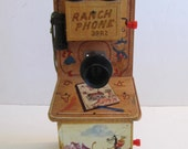 Ranch Phone, Toy Phone, Toy Telephone, Toys, Vintage Toys, Vintage Ranch Phone, Cowboy Phone, Telephones, Phones,  Cowboy Telephone, Vintage
