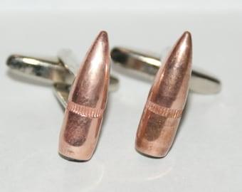 Bullet .223 cal. Cufflinks Free Gift Bag By Cufflinked AR-15 Ammunition Cufflinks
