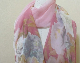 Painted Silk Scarf, lovely gift