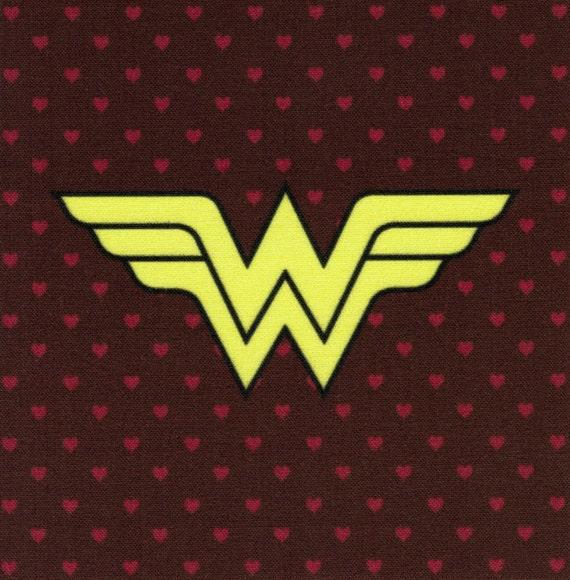 Wonder Woman Logo: DC Comics fabric print