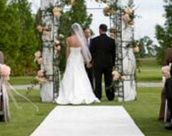 Extra Wide! 48 in W x 150 ft L White Premium Aisle Event Runner ~ Wedding ~ 4 ft Wide! Fabric Mate Brand