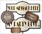 Personalized Prohibition Street Sign Printable 1 Road Sign With Your Custom Message Added ~ Speakeasy Roaring 20s Wedding Party Prom Decor