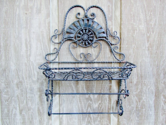 Enclume® Decor Wall Scroll Rack : Vintage shelf metal shelfwrought iron shelfshabby chic