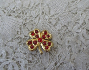 1930's four leaf clover brooch
