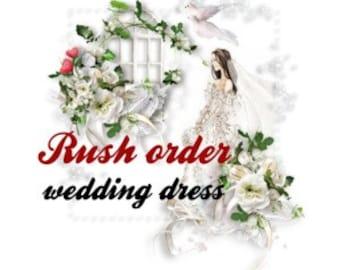 Super express shipping wedding dress