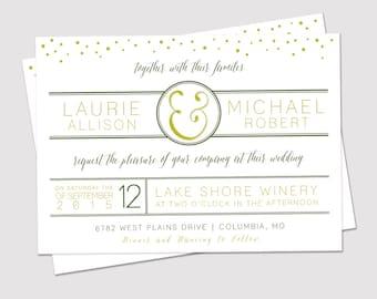Printable Modern Wedding Invitation