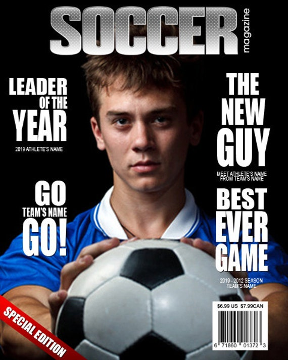 Soccer Magazine Cover Templates