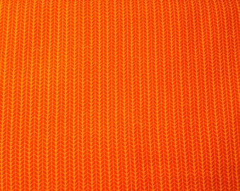Moda fabric by the yard - orange fabric #16084