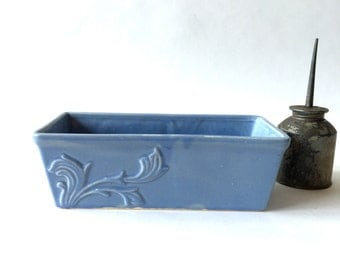 Pale Blue Cookson Rectangular Ceramic Planter Or Loaf Pan
