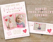 Valentines Day Mini Session Template - valentine mini sessions - photography marketing template