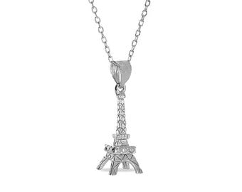 "Sterling Silver Eiffel Tower pendant with 18"" chain. Eiffel tower, paris,"